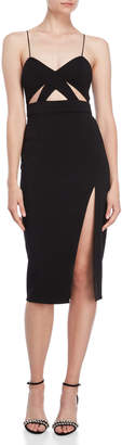Jay Godfrey The Roper Cutout Midi Dress