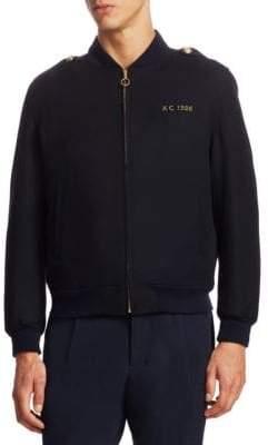Kent & Curwen Wilde Wool Bomber Jacket