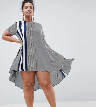 AX Paris Plus Vary Stripe Swing Dress