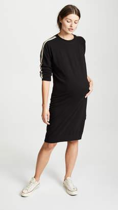 Monrow Maternity Sweatshirt Dress