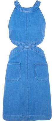 Stella McCartney Cutout Stretch-Denim Dress