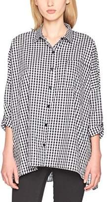 Daisy Street DaisyStreet Women's Maria Shirt (Black Gingham), 8 (Manufacturer Size:Small)