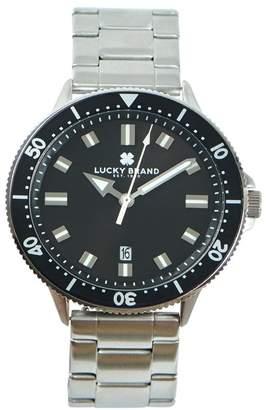 Lucky Brand Men's Dillon Silver Metal Bracelet Watch, 42mm