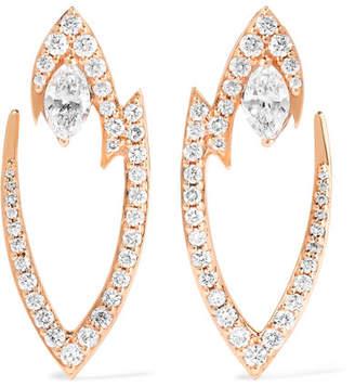Stephen Webster Lady Stardust 18-karat Rose Gold Diamond Earrings - one size