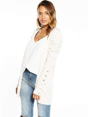 Very Puff Shoulder Button Sleeve Cardigan