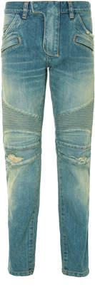 Balmain Biker Skinny Stretch Jeans
