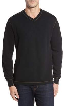 Anthony Logistics For Men Thaddeus Slubbed Long Sleeve V-Neck T-Shirt