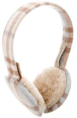 Burberry Nova Check Cashmere Earmuffs
