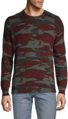 Pure Navy Camouflage Cotton Sweater