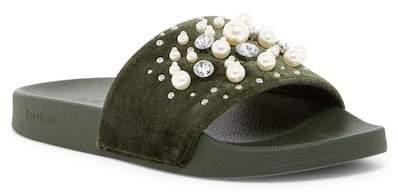 bebe Fenix Embellished Slide Sandal