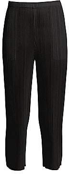 Pleats Please Issey Miyake Women's Basics Cropped Pants