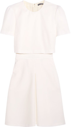 Alexander McQueen - Layered Wool-crepe Mini Dress - Ivory $1,895 thestylecure.com
