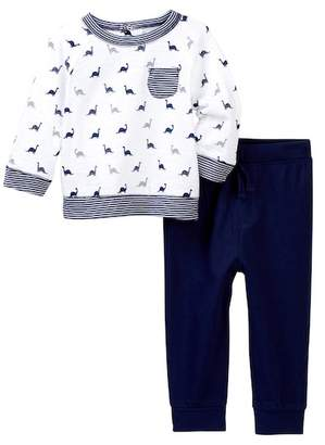 Offspring Dino Shirt & Joggers Set (Baby Boys)