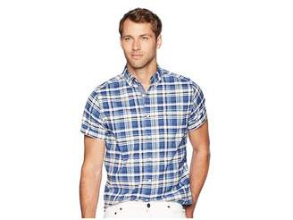 Nautica Short Sleeve Large Plaid Oxford Woven Shirt