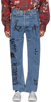 Vetements Blue Levis Edition Tribal Jeans