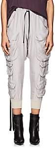 Taverniti So Ben Unravel Project Women's Washed Silk Cargo Pants - Light Gray