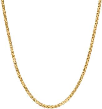 Lynx LYNXMen's Gold Tone Stainless Steel Wheat Chain Necklace