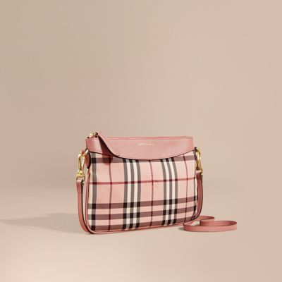 Burberry Haymarket Check and Leather Clutch Bag