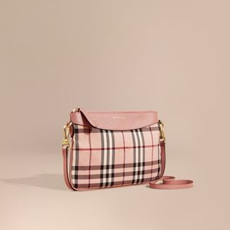 Burberry Haymarket Check and Leather Clutch Bag $625 thestylecure.com