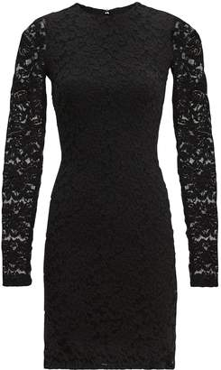 Nightcap Clothing Black Sweater Lace Dress