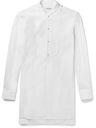 Alexander McQueen Mandarin-Collar Cotton-Poplin Tuxedo Shirt
