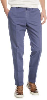 Ermenegildo Zegna Solid Chino Straight-Leg Pants