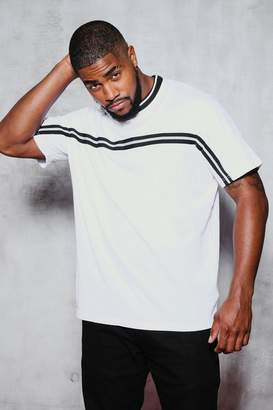 boohoo Big & Tall T-Shirt With Tape Detail
