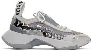 Palm Angels Grey Recovery Lace-Up Sneakers