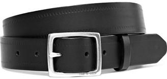 rag & bone - Boyfriend Embossed Leather Belt - Black $160 thestylecure.com