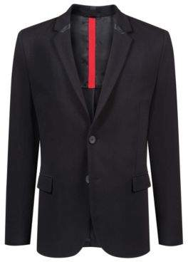 HUGO Boss Slim-fit blazer in stretch jersey 3D-effect structure 40R Black