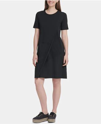 DKNY Overlay Shift Dress