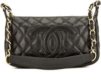 Chanel Black Quilted Caviar Leather Small Shoulder Bag (Pre Owned)