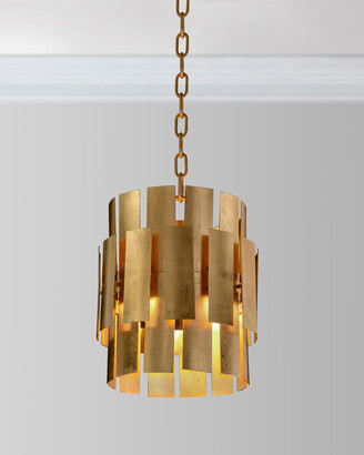 John-Richard Collection John Richard Collection Panes of Gold Leaf Metal Pendant