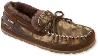 L.L. Bean L.L.Bean Men's Wicked Good Moccasins, Camo Print