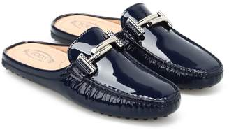 Tod's Double T Patent Slippers
