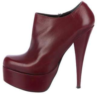 Alejandro Ingelmo Leather Platform Booties