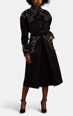 Françoise Women's Western Studded Cotton Denim Shirtdress - Black