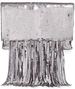 Galvan Small Sequined Shoulder Bag with Fringe