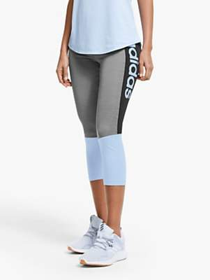 adidas Design 2 Move High Rise 3/4 Training Tights, Black/Glow Blue