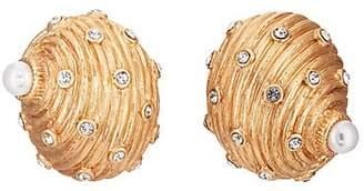 Kenneth Jay Lane WOMEN'S SEASHELL STUD EARRINGS - GOLD