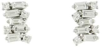 Suzanne Kalan Diamond Firework Stud Earrings - White Gold
