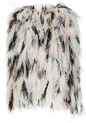 Rodarte Ostrich Feather Jacket