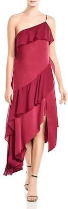 Haute Hippie Laura Asymmetric Ruffled Dress