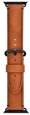 INC International Concepts I.n.c. Brown Faux-Leather Apple Watch Strap, Created for Macy's