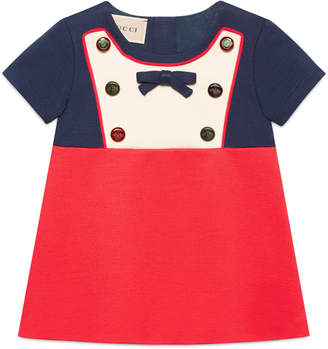 Baby jersey dress with mixed buttons $340 thestylecure.com