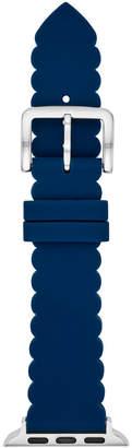 Kate Spade Women Blue Silicone Scallop Apple Watch Strap