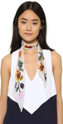 Rockins Super Skinny Flora Silk Scarf $145 thestylecure.com