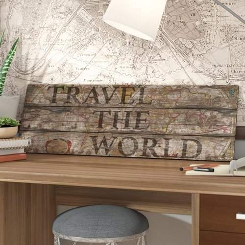 East Urban Home 'Travel the World' Textual Art on Canvas