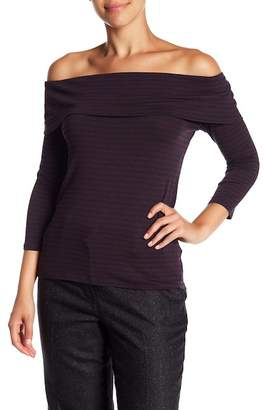 Trina Turk Alegra Striped Off-the-Shoulder Blouse
