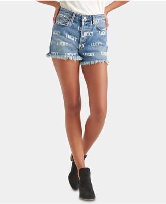 Lucky Brand Allover Print Jean Shorts